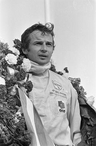 Jean-Pierre Beltoise en 1968, après sa victoire au GP de Zandvoort F2